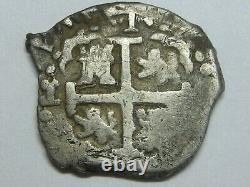 1695 Lima 1 Real Cob Charles II Peru Spain Spanish Colonial Silver Coin