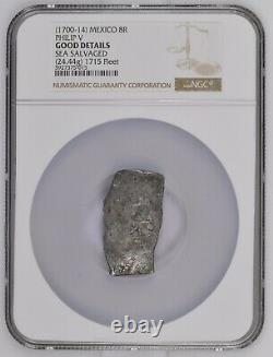 (1700-14) MEXICO PHILIP V 8 REALES NGC G DETAILS silver cob