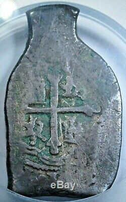 1700's Jug/Wine Bottle Shaped Spanish Mexico 8 Reales Silver Dollar Cob Coin