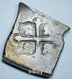 1700's Shipwreck Spanish Mexico Silver 4 Reales Antique Colonial Pirate Cob Coin