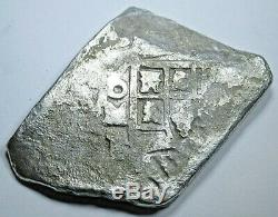 1700's Shipwreck Spanish Mexico Silver 8 Reales Eight Real Old Pirate Cob Coin