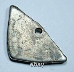 1700s Guatemala Triangle Shape Silver 1 Reales Antique Spanish Colonial Cob Coin