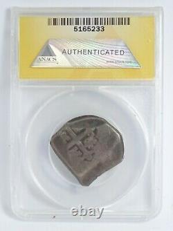 1701-24 Mexico Silver 4 REALES COB Philip V ANACS VG8