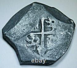 1705-12 Shipwreck Mexico Silver 8 Reales 1700's Spanish Colonial Dollar Cob Coin