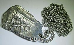 1706-1714 Mexico Holed Necklace Genuine Silver 8 Reales Spanish Dollar Cob Coin