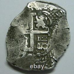 1707 Potosi 8 Real Cob Philip V Bolivia Assayer Y Spanish Silver Colonial Era