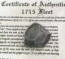 1708- 1715 Treasure Fleet Silver Mexico 8 Reales Cob Recovered From 1715 Fleet