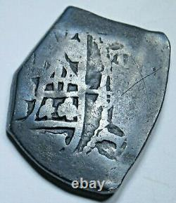 1712 Mexico Shipwreck Silver 4 Reales 1700's Spanish Colonial Pirate Cob Coin