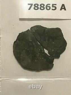 1715 Fleet SHIPWRECK Recovered Spanish Treasure 8 Reales Silver Cob Coin withCOA