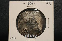 1715 Fleet Shipwreck Mexico Cob Coin 8 Reales Silver Spanish Cob
