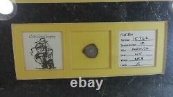 1715 Fleet Spanish Treasure FLOTILLA SHIPWRECK 1 Reales Cob Coin with COA & Framed