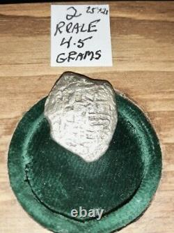 1715 Shipwreck Four Authent Reale Silver Cob Coins Sunken Spanish Treasure Fleet