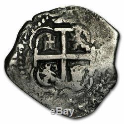 1722 Y Bolivia Silver 2 Reales Cob VF SKU#206227
