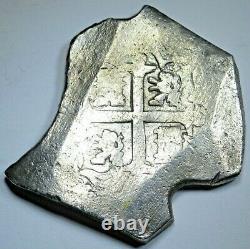 1724-1733 Shipwreck Spanish Mexico Silver 8 Reales Antique 1700s Pirate Cob Coin