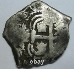 1724 Potosi 2 Real Cob Bolivia Philip V Assayer Y Spanish Silver Colonial Era