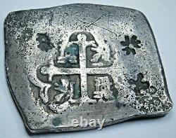 1729 8 Reales Cob 1814 N. E. Indies Madura Island 1 Real Batu Countermark Coin