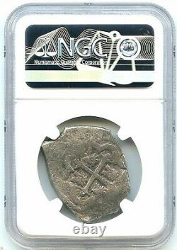 1730 8-Reales Silver Spanish Coin, Vliengenthart Shipwreck Cob, NGC Graded, Nice