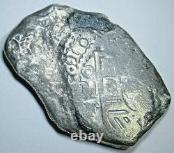1731 Shipwreck Mexico Silver 8 Reales 1700's Spanish Colonial Pirate Cob Coin