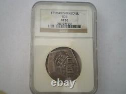 1732 F Mexico 8 Reales Cob 8r Spanish Colonial Silver Coin Ngc Vf 30