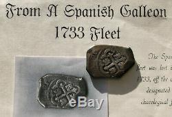 1732 Mexico City 8 Reales Cob 1733 Fleet COA