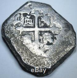 1732 Spanish Silver Shipwreck 8 Reales Eight Real Colonial Era Cob Treasure Coin