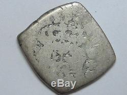 1735 /4 Guatemala 1/2 Real Cob Unpublished Philip V Silver Coin Rare Spain