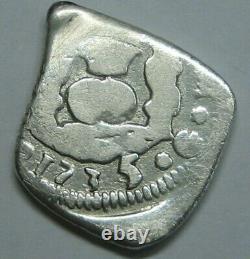 1735 Guatemala 1 Real Cob Philip V Full Date Spanish Silver Colonial Era Cob