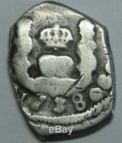 1738 Guatemala 1 Real Cob Philip V Full Date Assayer J Beautiful Colonial Era