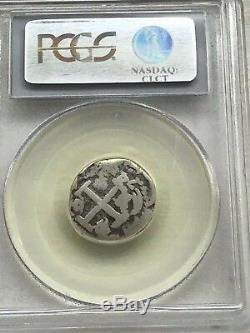 1741-P 2 Reales Silver Cob Peru PCGS F15