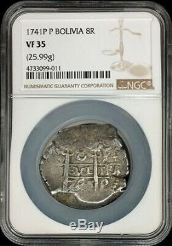 1741 Potosi Silver Bolivia 8 Reales Cob Philip V Coin Ngc Very Fine 35