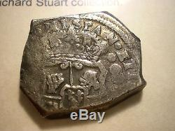 1742 8 Reales Guatemala Reijgersdaal Shipwreck Silver Dollar Cob Colonial Coin