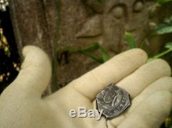 1742 8 Reales Guatemala Reijgersdaal Shipwreck Silver Dollar Cob Colonial Coin