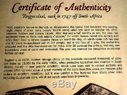 1742 Guatemala 8 Reales Reijgersdaal Shipwreck Silver Dollar Cob Colonial Coin