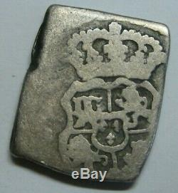 1750 Guatemala 1 Real Cob Ferdinand VI Full Date Assayer J Spain Colonial Scarce