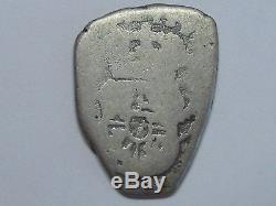 1751 Guatemala 1/2 Real Cob Ferdinand VI Silver Coin Rare Spain