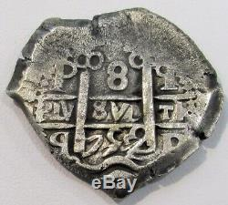 1752 Q Potosi Silver Bolivia 8 Reales (corazon Shape) Cob Ferdinand VI Coin