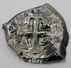 1754 Q Potosi Silver Bolivia 4 Reales Cob Ferdinand VI Coin 2 Dates