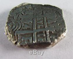 1754 Silver Cob 4 Reales Pillar Shipwreck Silver Coin