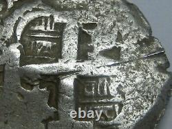 1756 Potosi 8 Real Cob Ferdinand VI Spanish Silver Dollar Colonial Antique Cob