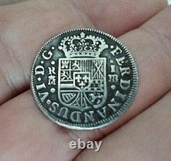 1757 1 Reales Silver Treasure Cob Coin
