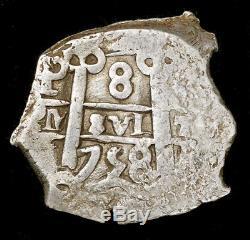 1758 Potosi Silver Bolivia 8 Reales Cob Ferdinand VI Coin