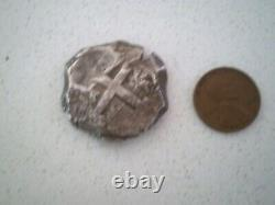 1763 Bolivia 8 Reales Dollar Pesos Colonial 8r Cob Silver Coin