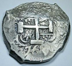1765 Spanish Bolivia Silver 8 Reales Old 1700's Colonial Dollar Pirate Cob Coin