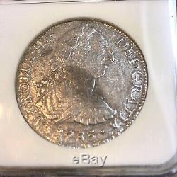 1783-Mo FF 8 Reales NGC Genuine El Cazador Shipwreck, Pirate Cob Dollar Era