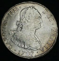 1797 PTS PP Bolivia 4 Reale Rare Hoard Silver Milled Bust US First Cob Coin