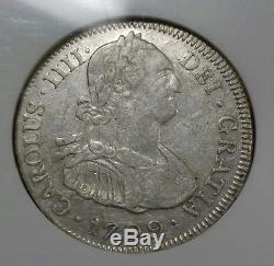 1799 PTS PP Bolivia 4 Reales NGC XF40 Rare Certified Cuzco Hoard Silver Cob Coin