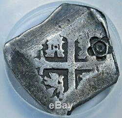 1820 Madura Island 1/2 Real Batu 1700's 4R Mexico Cob Sumenep Countermark Coin
