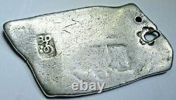 1820 N. E. Indies Madura 1 Batu 1700's Mexico 8 Real Cob Sumenep Countermark Coin