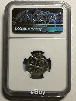 1823 Nicaragua 2 Reales Leon Cob NGC VF 35 Richard Stuart Collection 6.25g