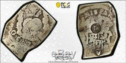 (1839) Guatemala 8 Reales C/S on Cob 8 Reales PCGS Lot#G616 Silver! Scarce